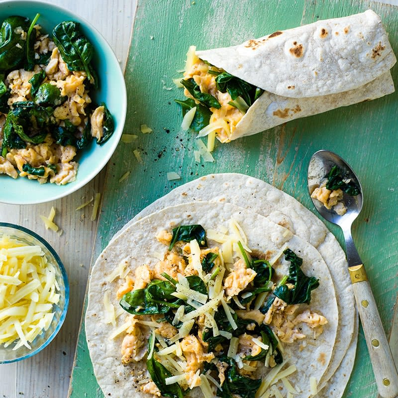 Photo of Scrambled egg and spinach wraps by WW