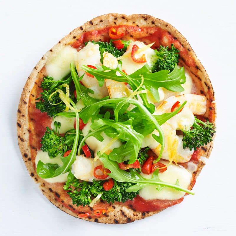 Photo of Broccolini, prawn, chilli and bocconcini pizza by WW