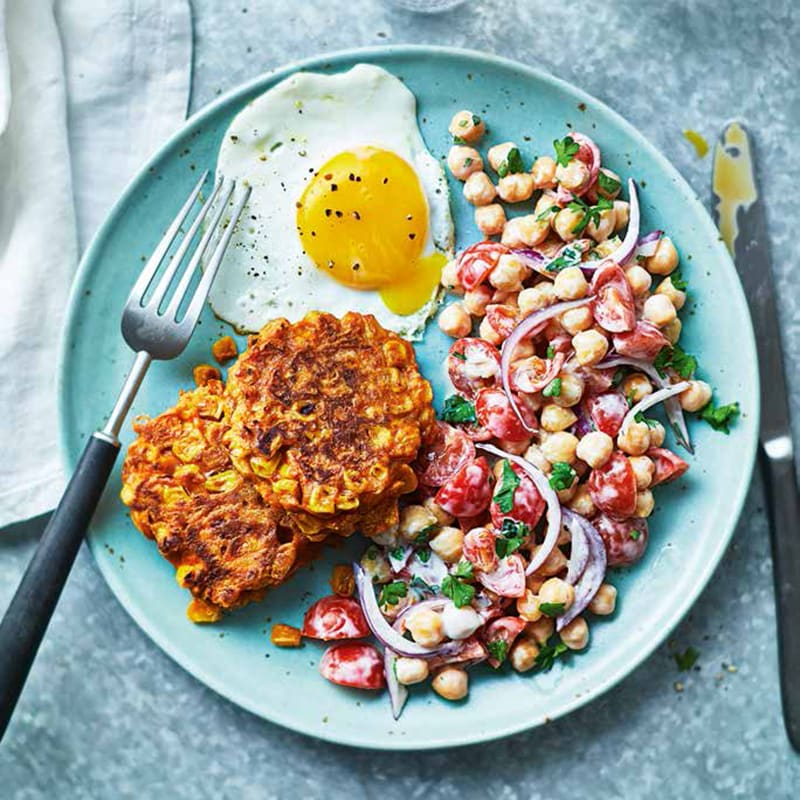 Photo of Sweetcorn and carrot fritters by WW