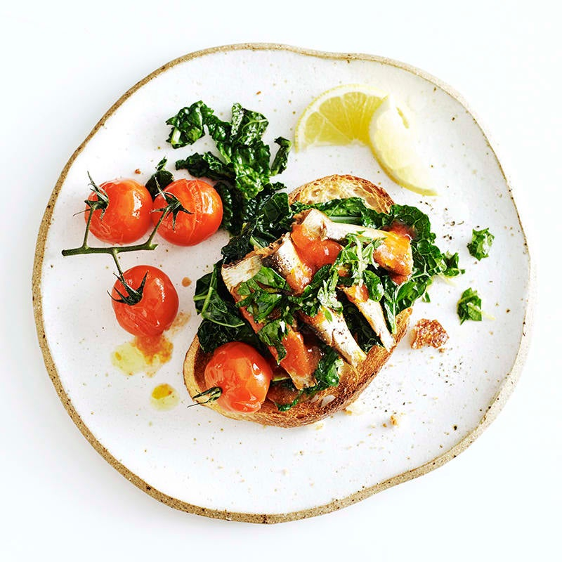 Photo of Sardines with tomatoes and gremolata on sourdough by WW