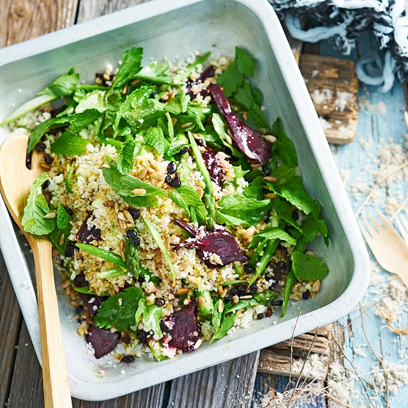 Photo of Grain salad with roasted beets, asparagus and seeds by WW
