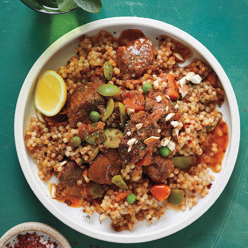Photo of Slow-cooker lamb tagine with lemon and olives by WW