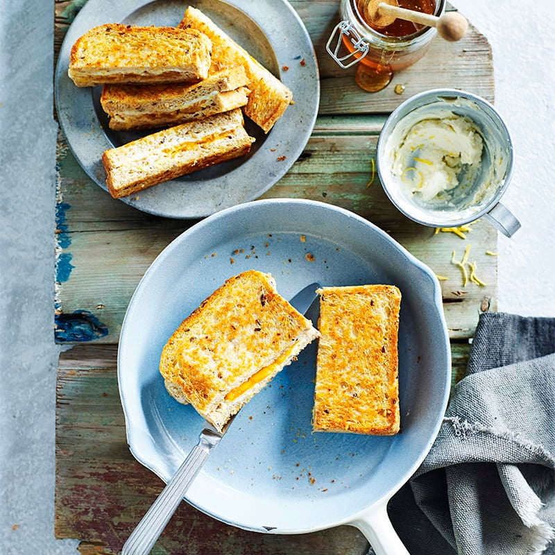 Photo of Pan-fried apricot and goat's cheese sandwich by WW