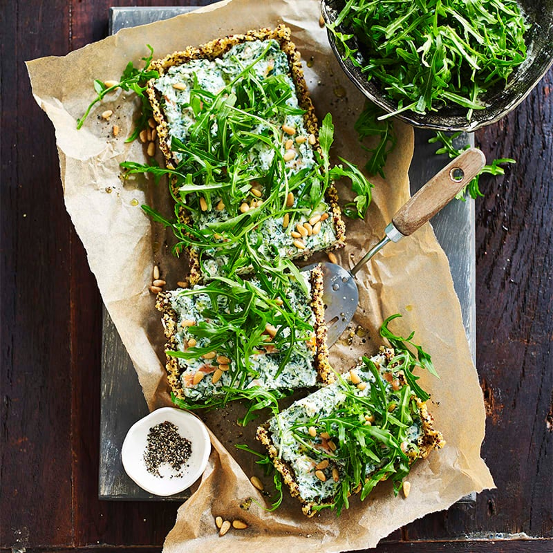 Photo of Salmon and spinach quinoa tart by WW