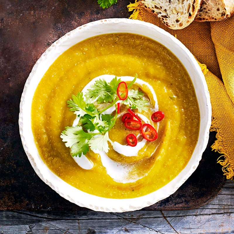 Photo of Spicy pumpkin, quinoa and coconut soup by WW