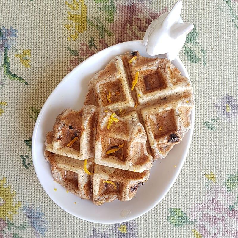 Photo of Nikki's hot cross waffles by WW