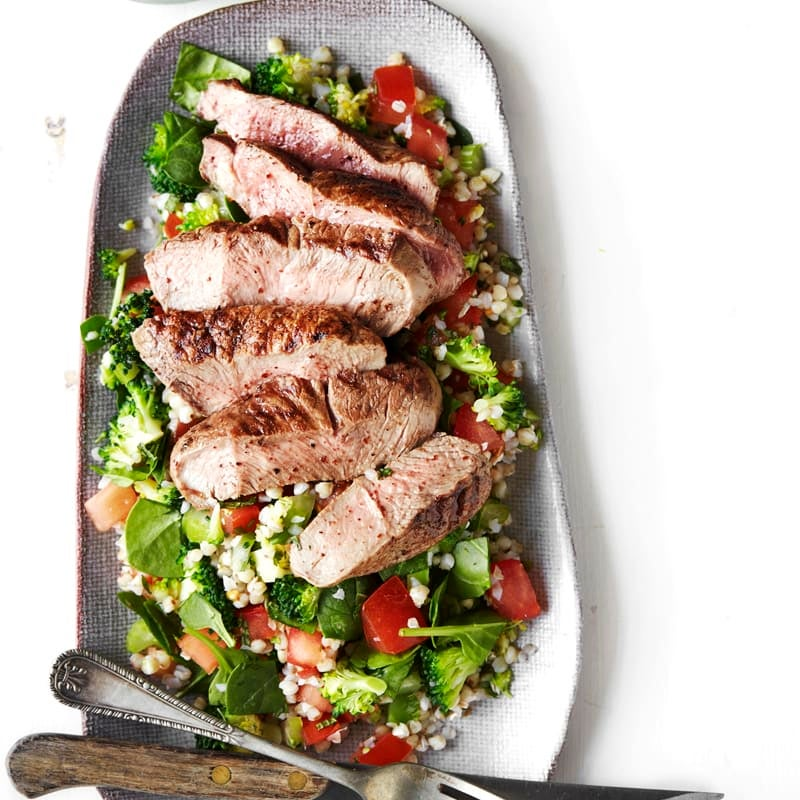 Photo of Buckwheat and broccoli tabouleh with grilled sumac lamb by WW