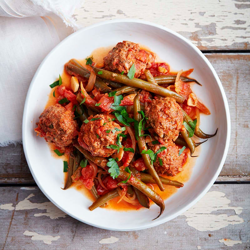 Photo of Slow cooked Greek meatballs with green beans by WW