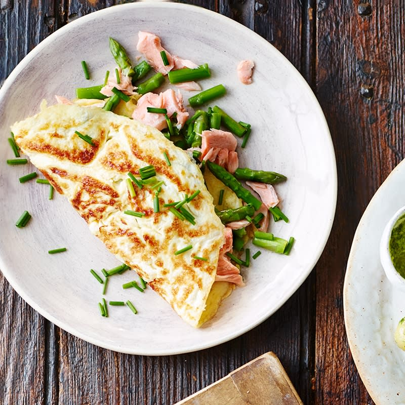 Photo of Salmon, asparagus and chive omelette by WW