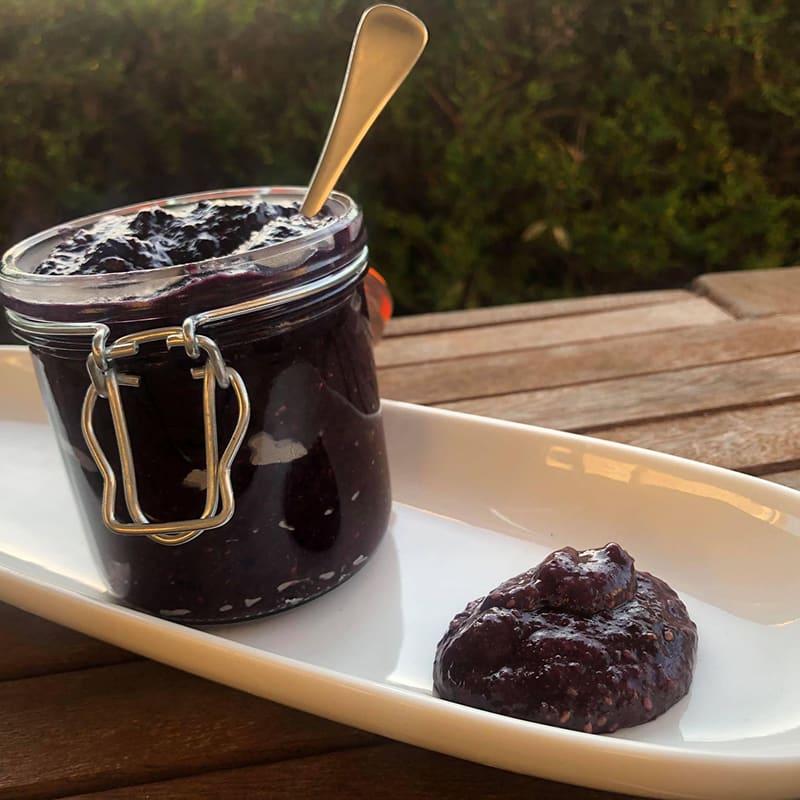 Photo of Sarah's blueberry jam by WW