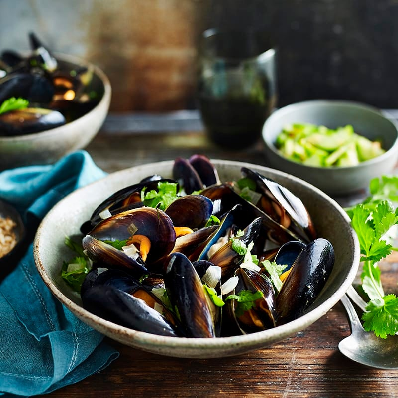Photo of Spicy Korean mussels with pickled cucumber by WW