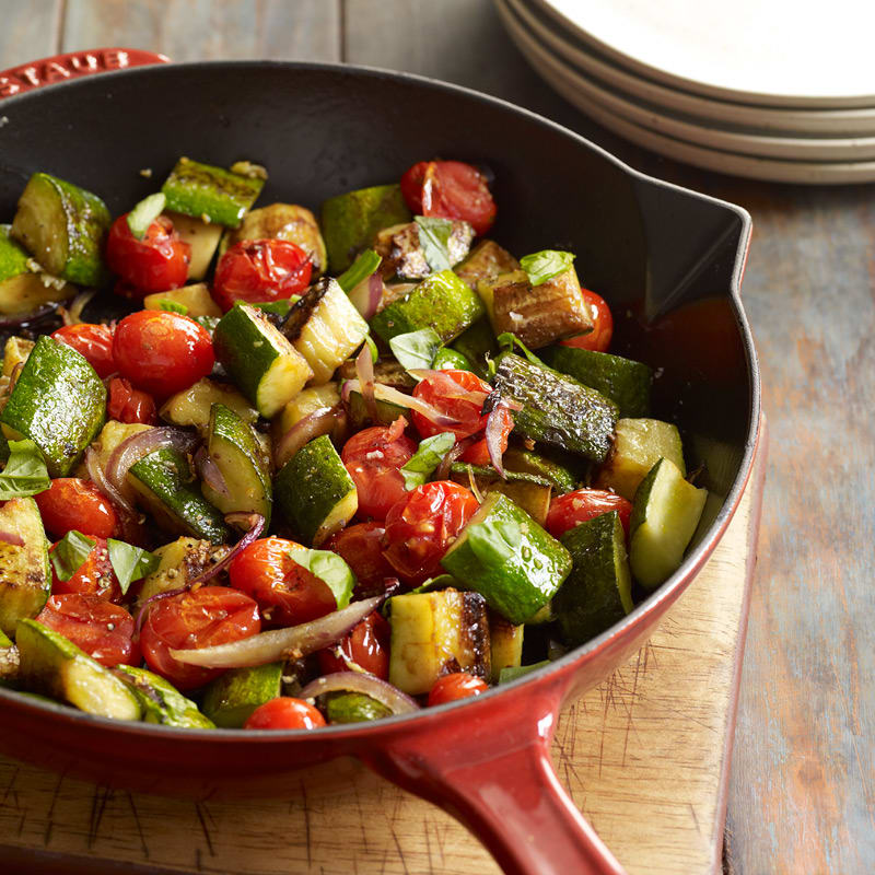 Photo of Zucchini, red onion and tomato pan fry by WW