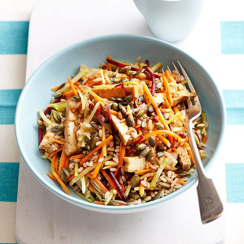 Photo of Tofu, rice and shredded vegetable salad by WW