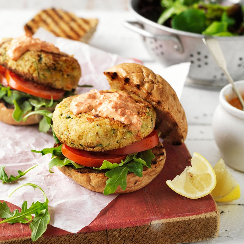 Photo of Mediterranean chickpea burgers by WW