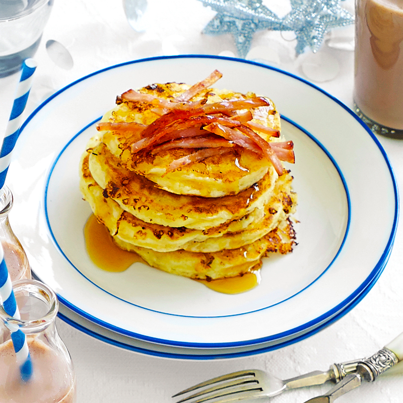 Photo of Bacon and maple syrup pancakes by WW