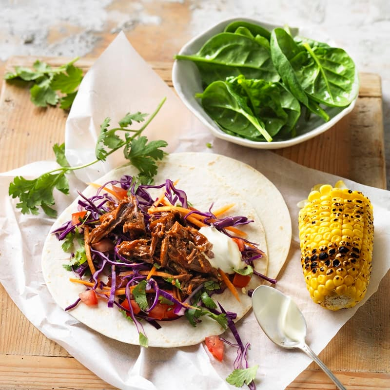 Photo of Pulled lamb tacos with red cabbage slaw by WW