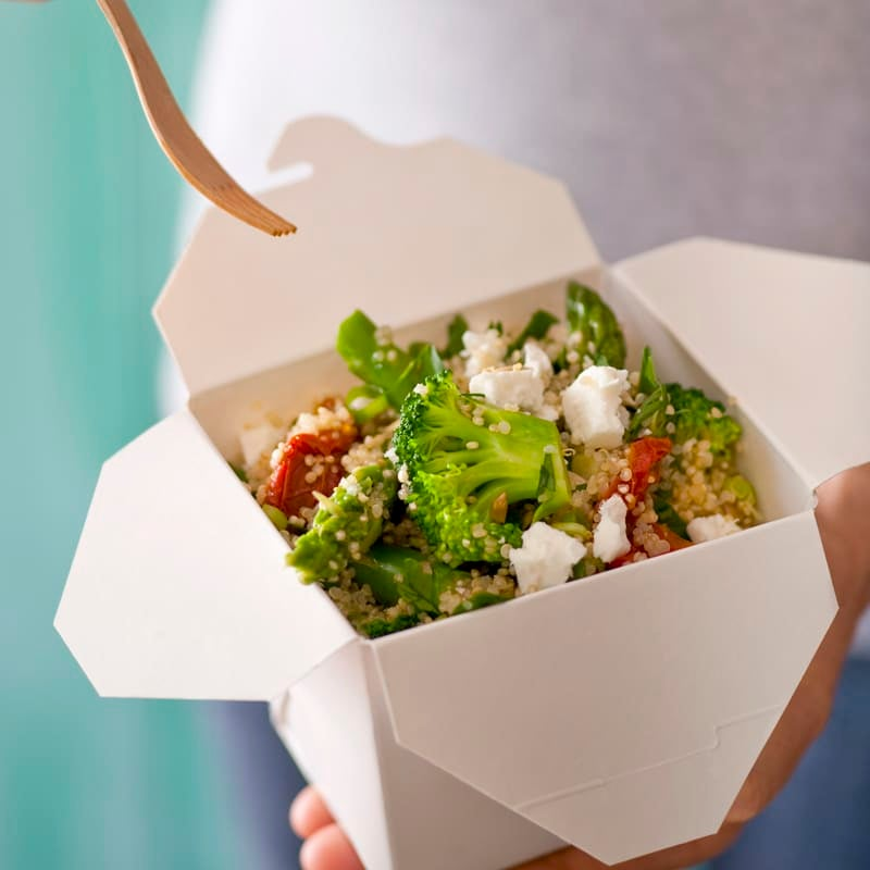 Photo of Quinoa salad with asparagus and feta by WW