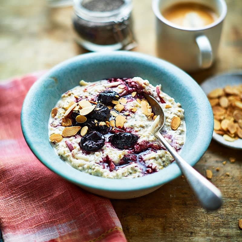 Photo of Cherry and almond overnight oats by WW