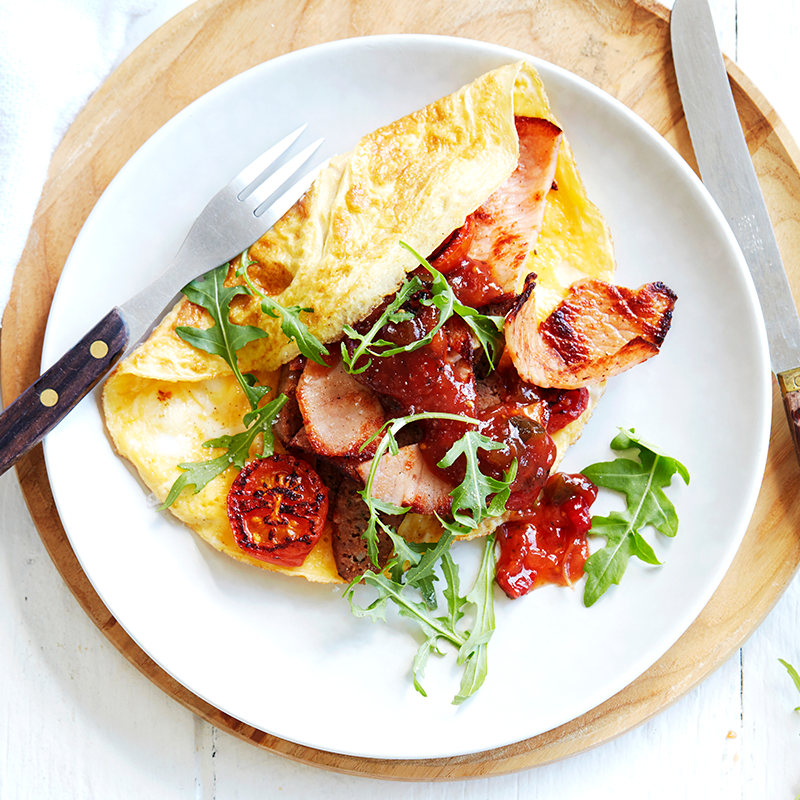 Photo of Inside-out egg and bacon omelette by WW