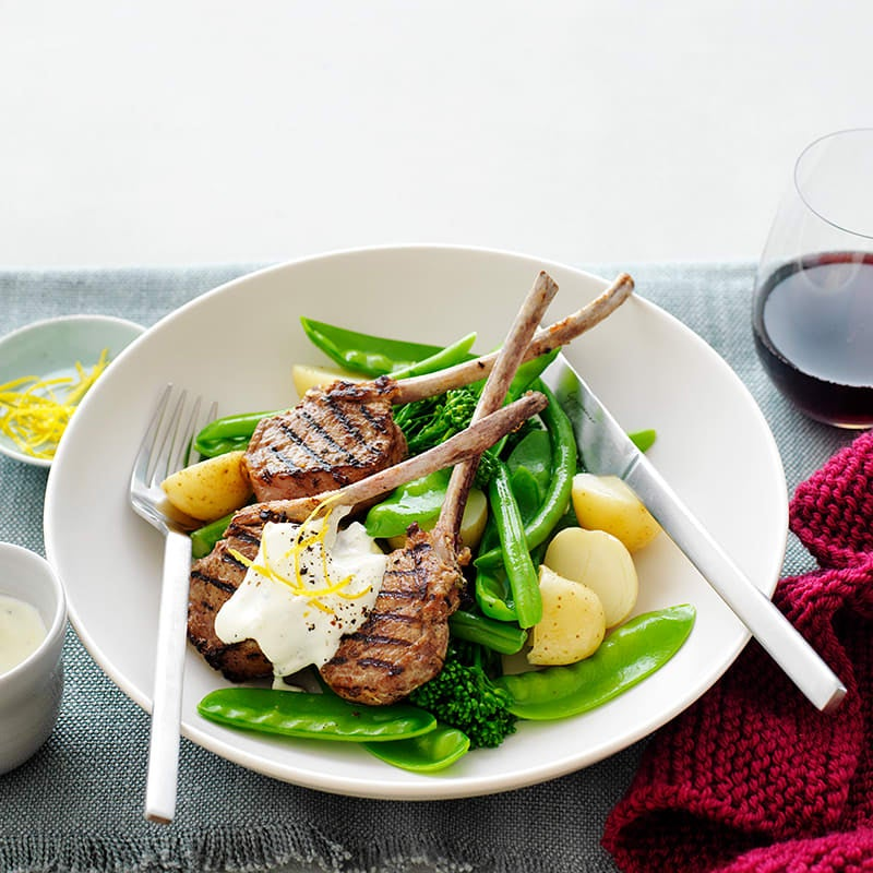 Photo of Lamb cutlets with garlic and lemon sour cream by WW
