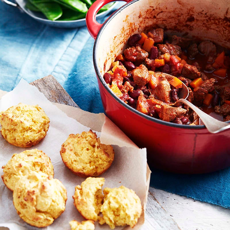 Photo of Slow-baked chilli with cornbread muffins by WW