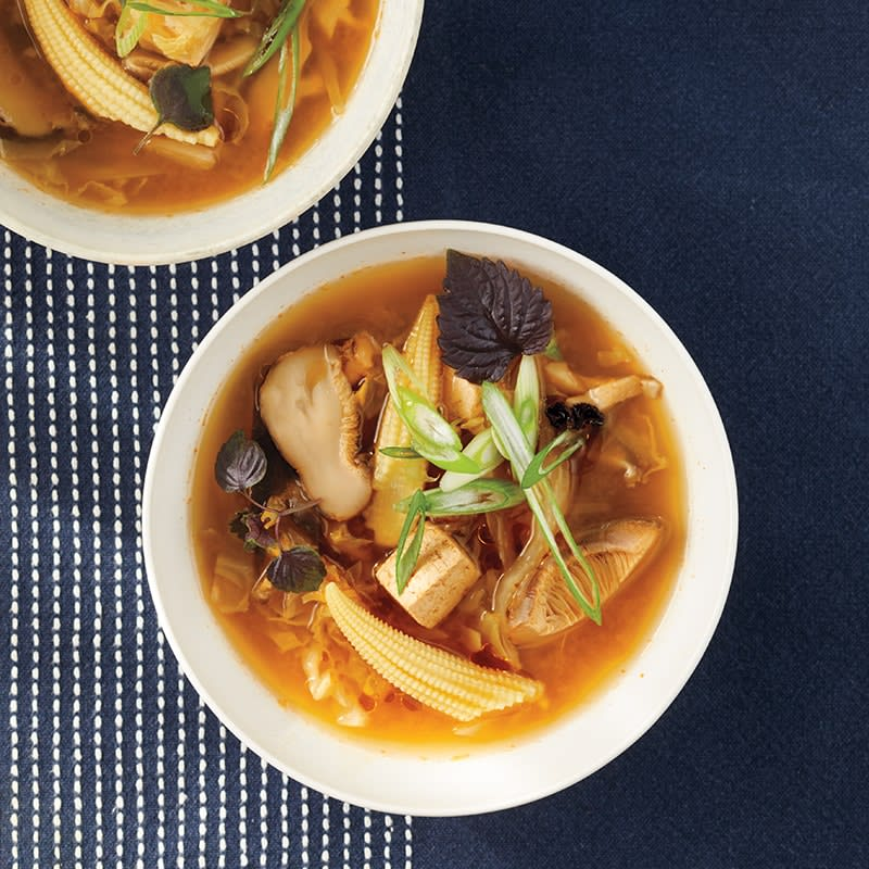 Photo of Slow-cooker hot and sour soup with shiitakes and tofu by WW