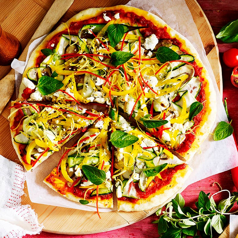 Photo of Vegie and goat's cheese pizza by WW