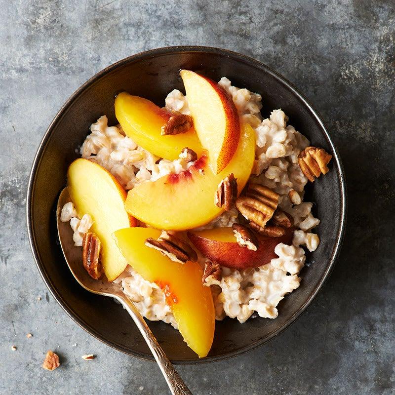 Photo of Peaches and cream barley porridge by WW