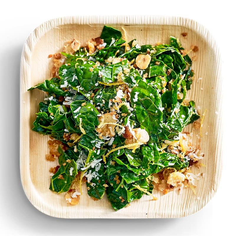 Photo of Wilted Tuscan kale with garlic crumbs by WW