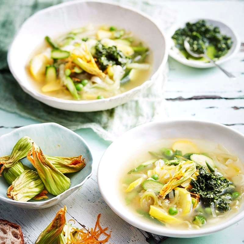 Photo of Summer minestrone with kale pistou by WW