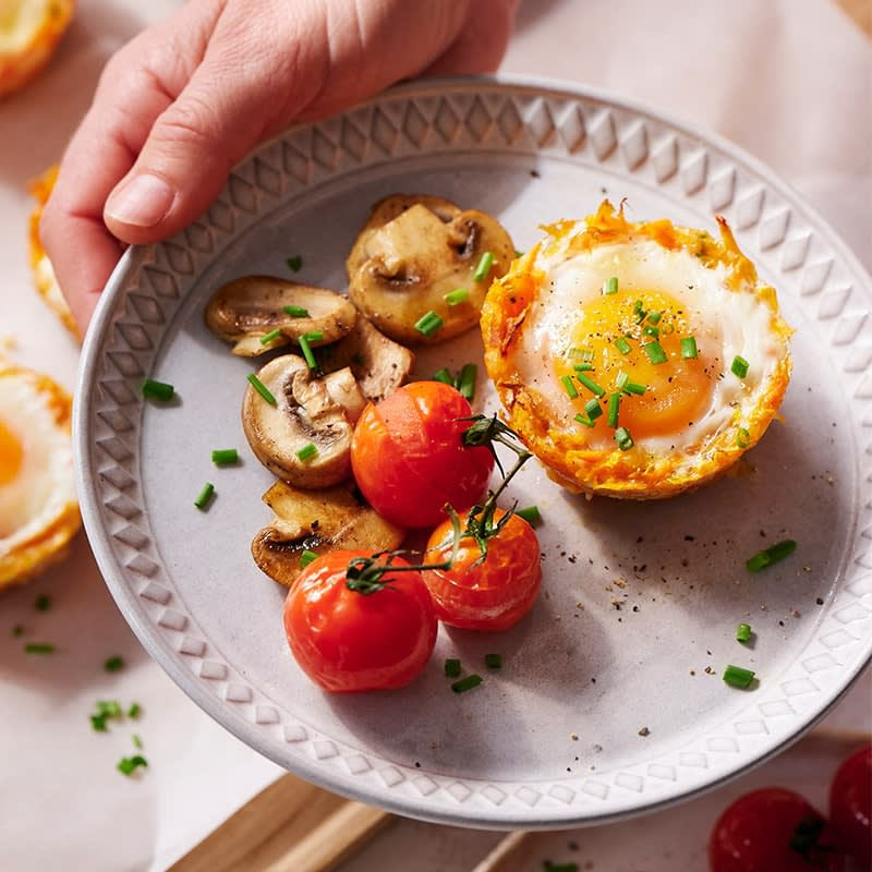 Photo of Shellie's sweet potato hash and egg cups by WW