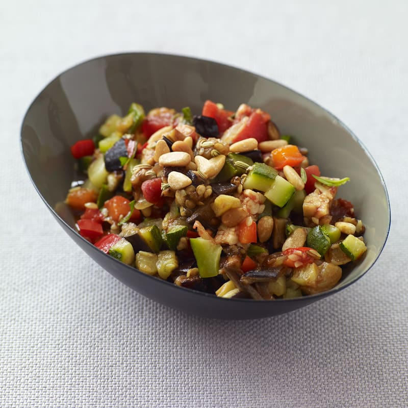Photo of Roasted vegetable ratatouille with tempeh and pine nuts by WW