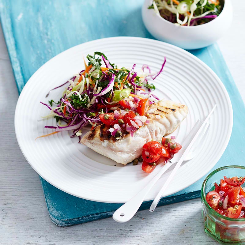Photo of Grilled fish with tomato, parsley and caper salsa by WW