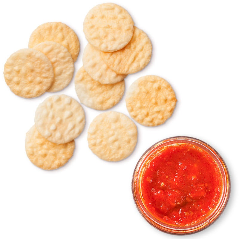 Photo of Tomato salsa and rice crackers by WW