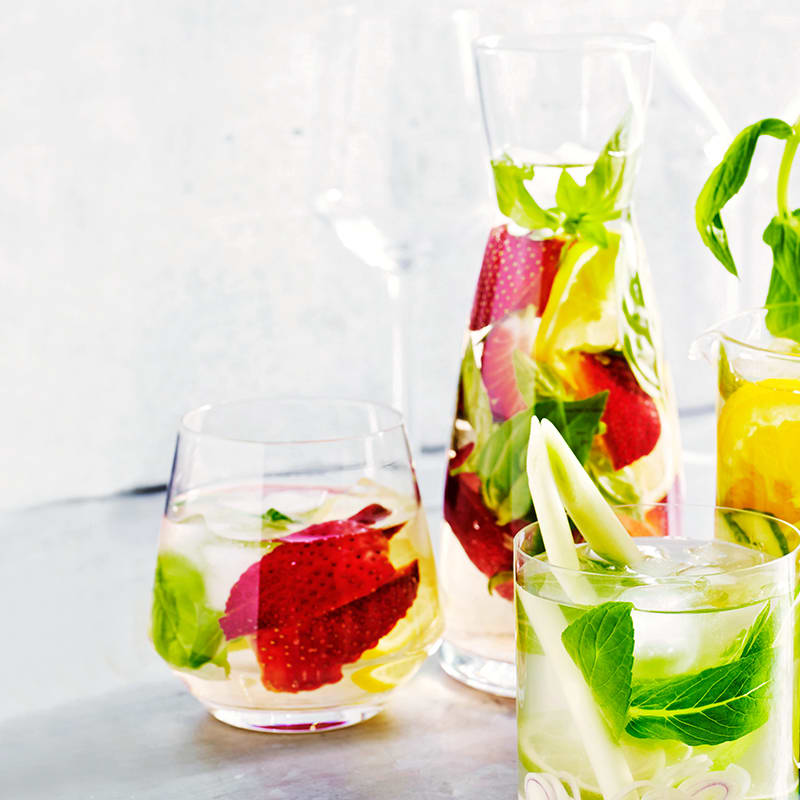 Photo of Strawberry, basil and lemon water by WW