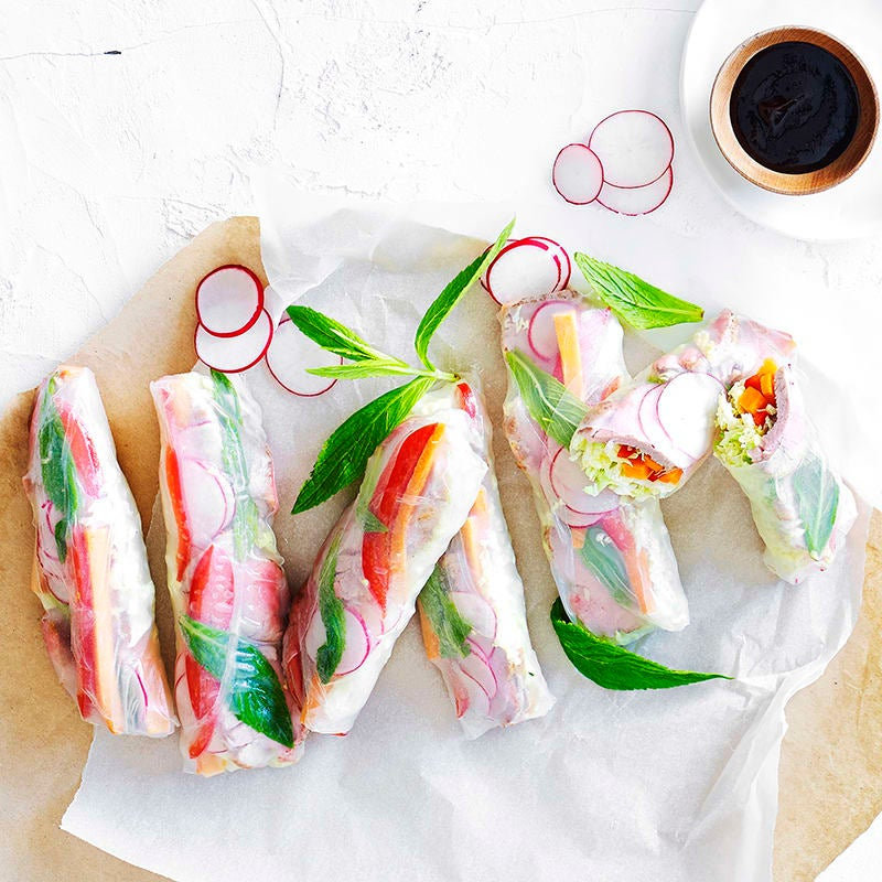 Photo of Charred pork and pickled vegetable rice paper rolls by WW