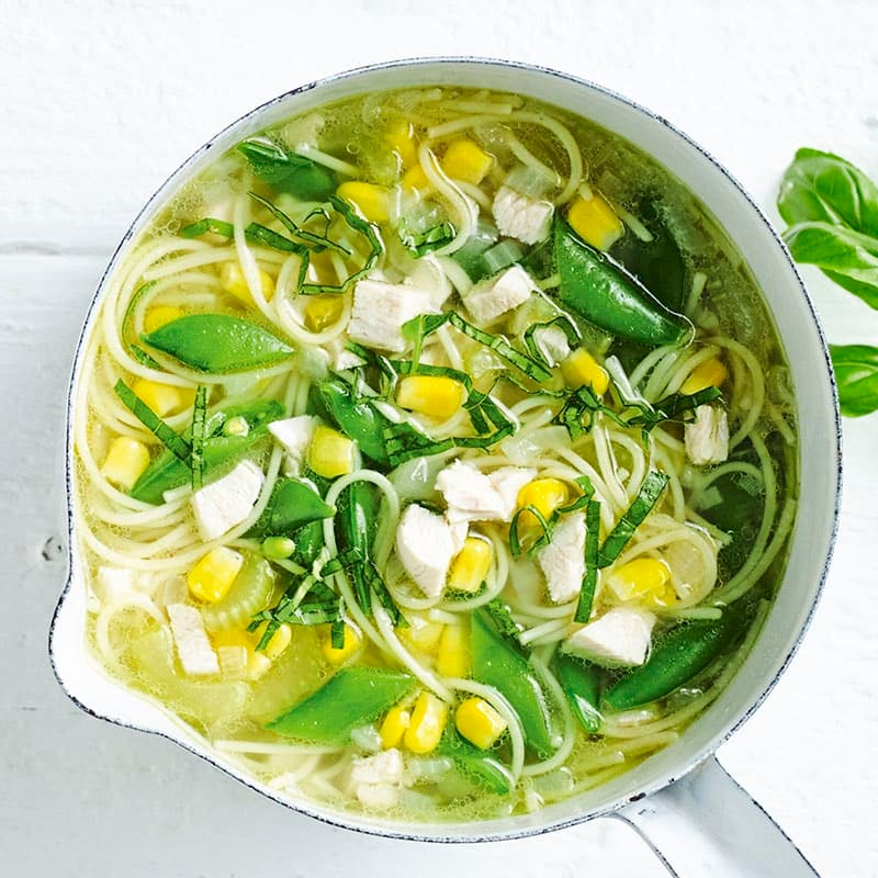 Photo of Chicken noodle soup with basil by WW