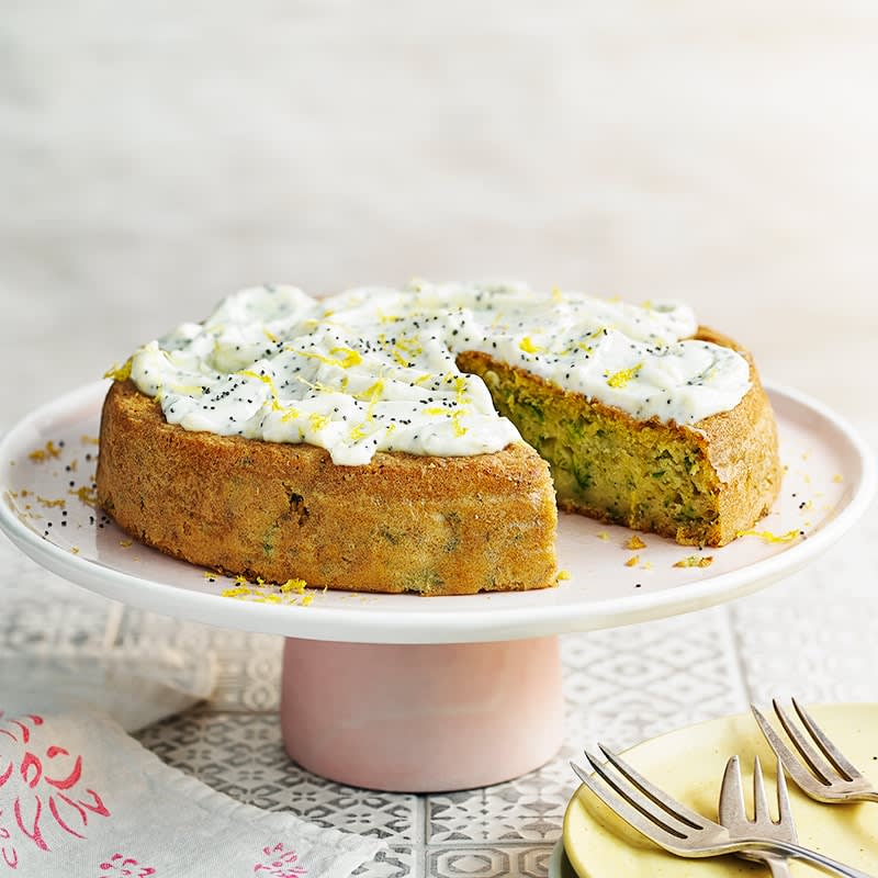 Photo of Zucchini cake with lemon and poppy seed frosting by WW