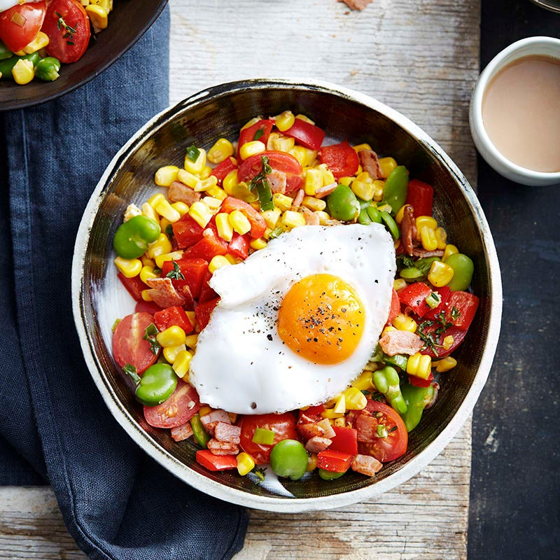 Photo of Succotash with egg by WW