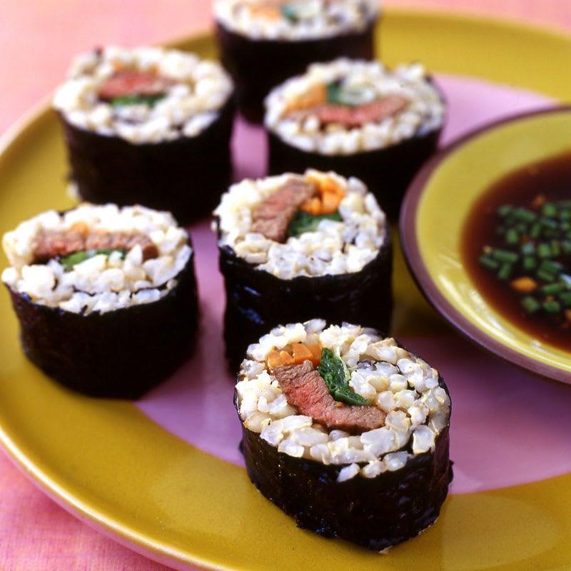 Photo of Teriyaki beef sushi rolls by WW