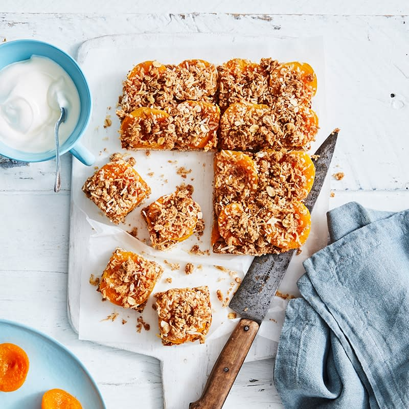 Photo of Sarah's apricot crumble slice by WW