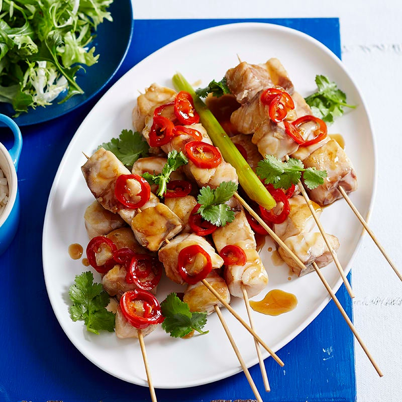 Photo of Asian-style fish kebabs by WW