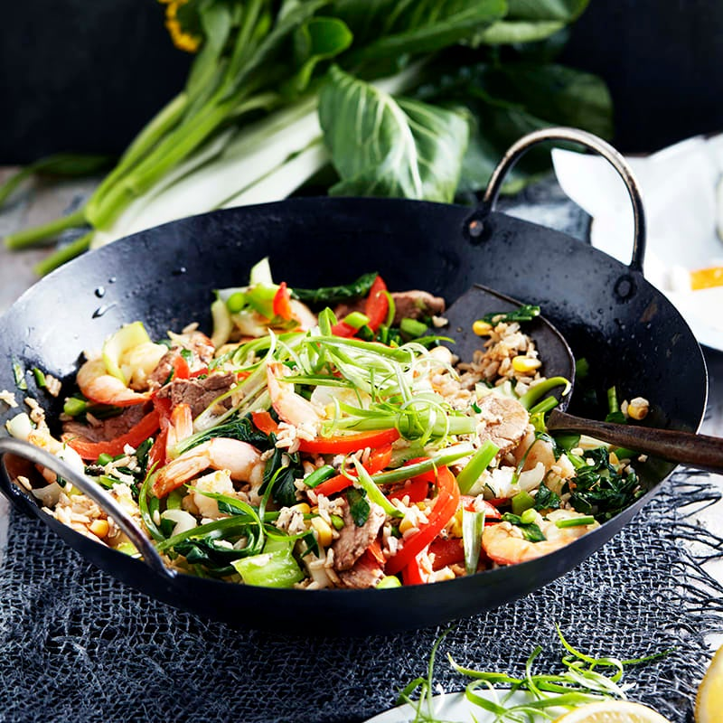 Photo of Combination chia fried rice with pork and prawns by WW