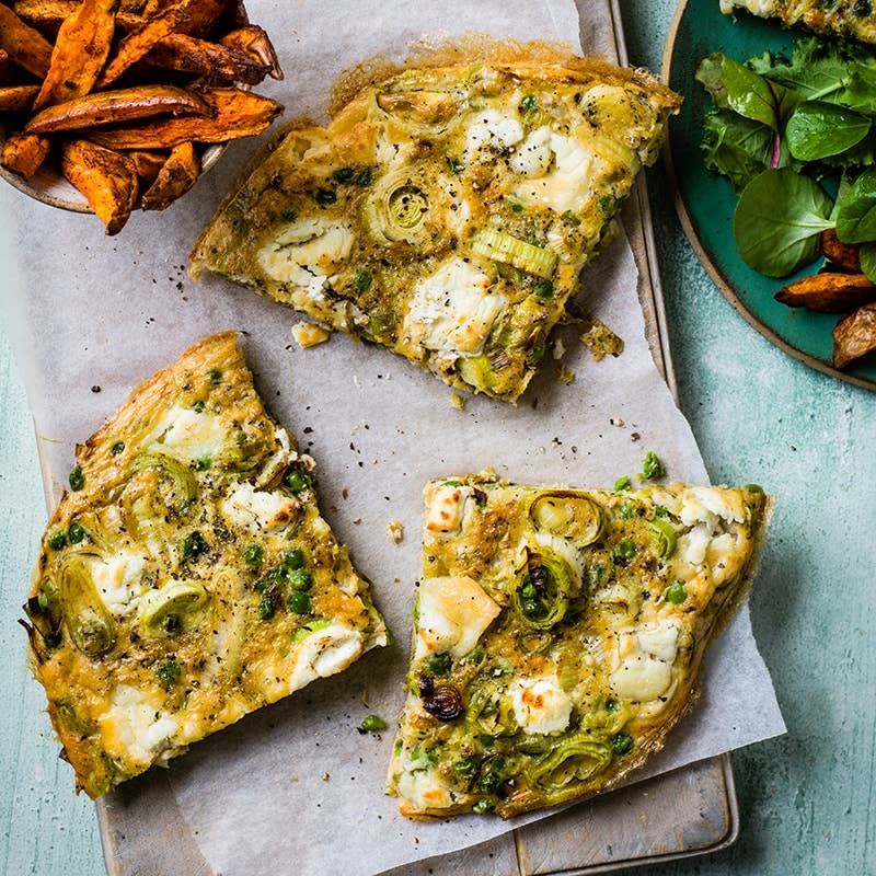 Photo of Pea, leek and goat's cheese baked omelette by WW