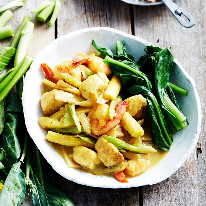 Photo of Curried seafood and Asian greens by WW
