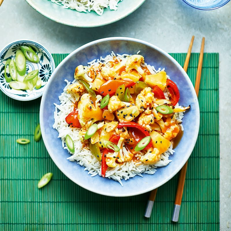 Photo of Sweet and sour cauliflower with rice by WW