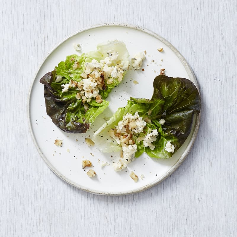 Photo of Blue cheese and walnut baby cos boats by WW