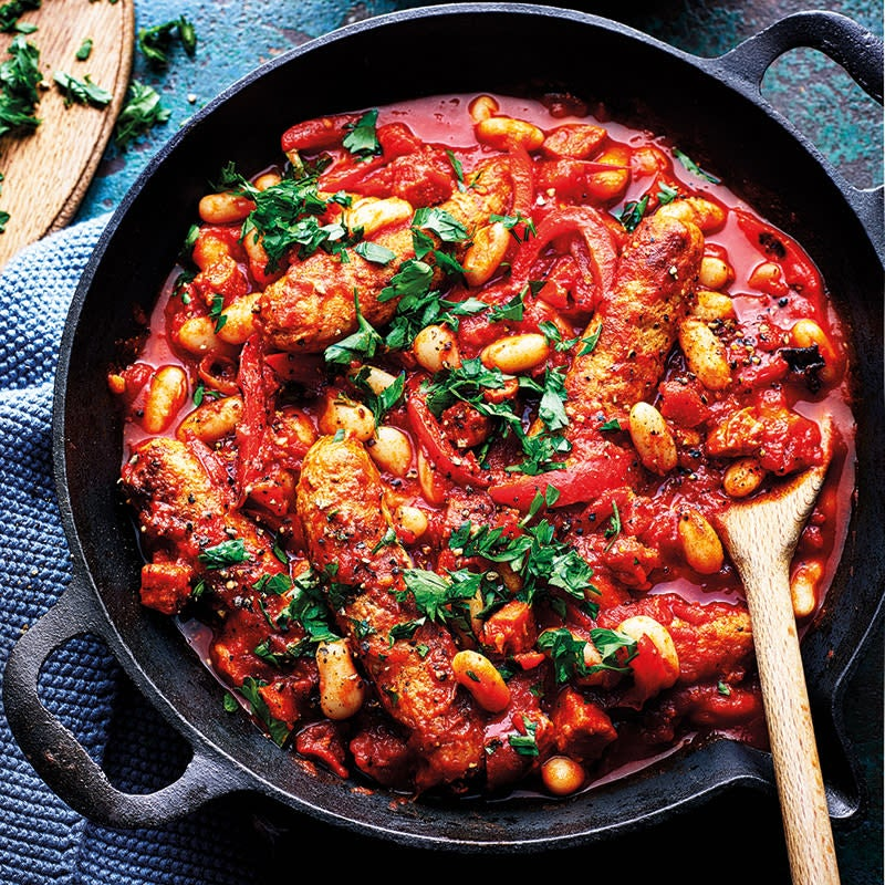 Photo of Smoky sausage and bean stew by WW