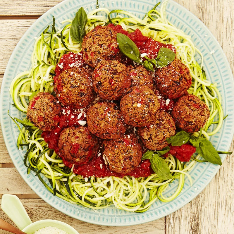 Photo of Veggie meatballs and zucchini zoodles by WW