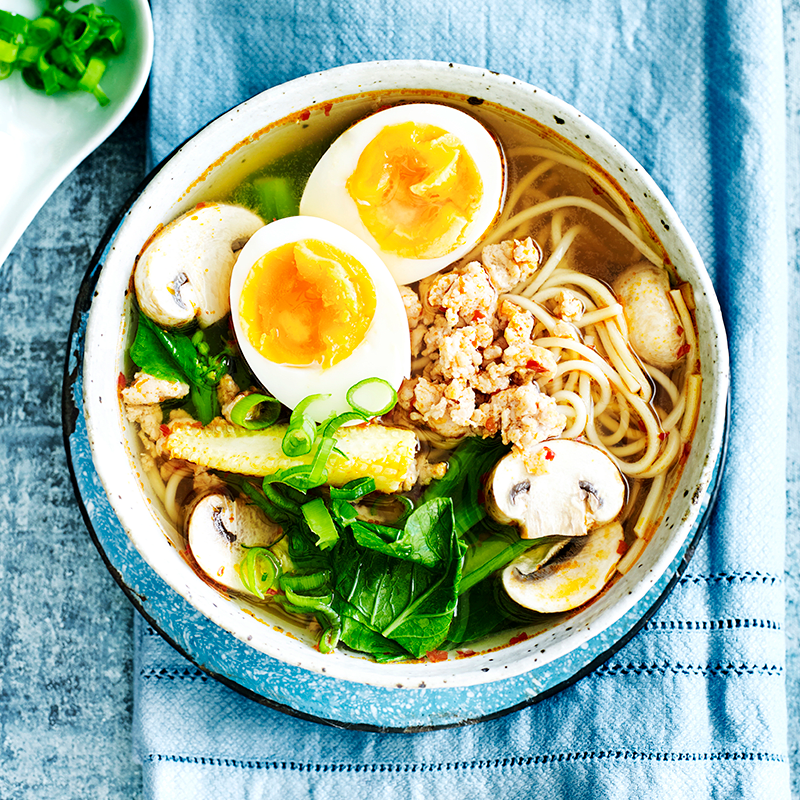 Photo of Chicken and vegetable ramen noodle soup by WW